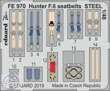 Hunter F.6 seatbelts STEEL 1/48 - Airfix