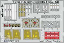 F-4B interior seatbelts STEEL 1/48 - Academy