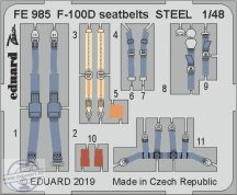 F-100D seatbelts STEEL 1/48 - Trumpeter