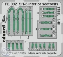 SH-3 interior seatbelts STEEL 1/48