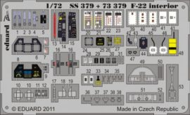 F-22 interior S. A.  - 1/72 - Fujimi