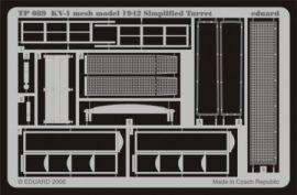 KV-1 mesh Simplified turret - 1/35 - Trumpeter