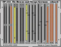 German Tie Down and Straps - 1/35 - német rögzítőszíjak, pántok