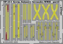German Infantry Grenades WWII - 1/35 - német gyalogsági övek, csatok.