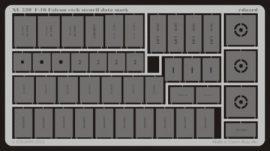F-16 etch stencil data mask -etch - 1/32