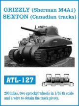 GRIZZLY (Sherman M4A1), SEXTON (Canadian tracks)  (ATL127)