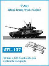 T-90 Steel track with rubber  (ATL137)