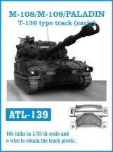 M-108/M109 /PALADIN T-136 type track (early)  (ATL139)