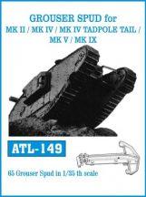 GROUSER SPUD for MK II/MK IV/ MK IV TADPOLE TAIL/MK V/MK IX  (ATL149)