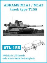 ABRAMS M1A1 / M1A2 track type T158  (ATL155)