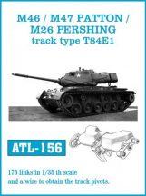 M46m / M47 PATTON / M26 PERSHING track type T84E1  (ATL156)
