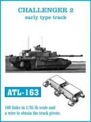 CHALLENGER 2 early type track  (ATL163)