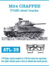 M24 CHAFFEE T72El steel tracks.  (ATL39)