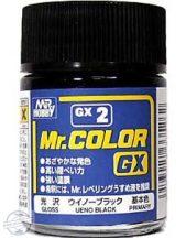 GX 002 - Mr. Color Ueno Black Gloss - 18 ml