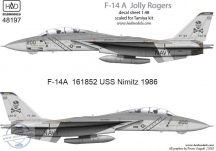 F-14A VF-84 Jolly Rogers 200 low visibility - 1/48