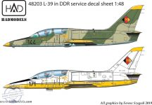 L-39 DDR with full stencil 1:48