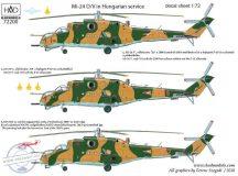 "Mi-24 V / D ""Eagle killers"" with NATO stencils decal sheet 1:72"