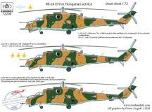 "Mi-24 V / D ""Eagle killers"" with NATO stencils decal sheet 1:72"