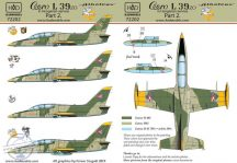L-39 Hungarian with DDR painting decal sheet 1:72