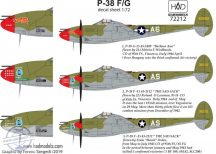 "P-38 F/G "" Over Europe"" decal sheet - 1/72"