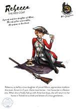 Rebecca, the Red Coat - 54 mm - Összeépítendő, festetlen műgyanta figura.