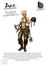 Jane, the US Paratrooper - 54 mm - Összeépítendő, festetlen műgyanta figura.