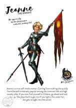 Jeanne, the Knight - 54 mm - Összeépítendő, festetlen műgyanta figura.