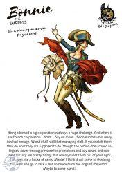 Bonnie, the Empress - 54 mm - Összeépítendő, festetlen műgyanta figura.