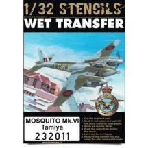 Mosquito Mk.VI - Stencils - 1/32