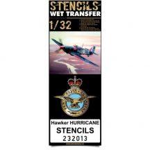Hawker Hurricane stencils - 1/32