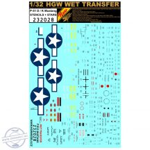 P-51 D/K Mustang - Stencils + Stars - 1/32