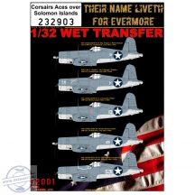 F4U-1 Corsair - Markings, Aces over Solomon Islands - 1/32