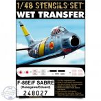 F-86E/F Sabre - Stencils 1/48
