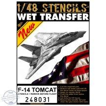 F-14 Tomcat - Stencils + RBF 1/48