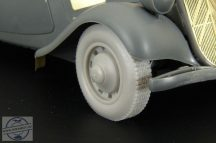 Citroen 11CV wheels - 1/35 - Tamiya
