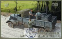 Einheitsdiesel with small field kitchen Hf.14
