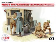 Model T 1917 Ambulance with US Medical Personnel - 1/35