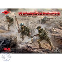 US Infantry in Gas Masks (1918) - 1/35
