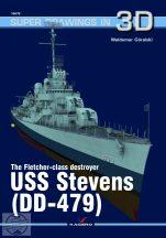 The Flecher- class destroyer USS Stevens (DD-479)