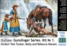 Marshal Tom Tucker, Molly and Rebecca Hanson - 1/35