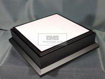15cm x 15cm Makett alap Diorama - fekete (Black)