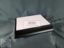 40cm x 30cm Makett alap Diorama - fekete (Black)