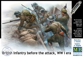 1/35 British Infantry before the Attack WWI (5 fig)