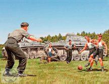 1/35 German Tankers - A break between battles WWII