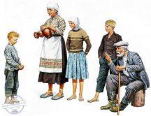 1/35 Eastern Region Peasants WWII (5 fig.)
