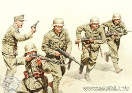 1/35 German infantry, DAK WWII era (5 fig.)
