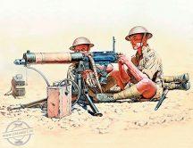 1/35 Vickers Machine Gun team (5 fig.+weapon set)