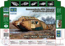1/72 MK I 'Male' British Tank, Somme Battle 1916