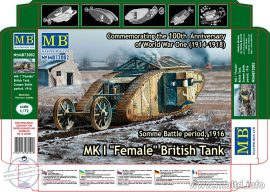 1/72 MK I 'Female' British Tank, Somme Battle 1916