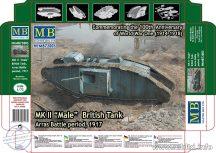 1/72 MK II MALE British Tank (Arras Battle, 1917)
